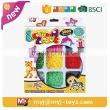 mini perler beads 9 colors 3000 beads/box aircraft model perler beads fight peas 5mm template