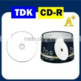 TDK A+ Printable CD-R, blank cd 52X 700MB, Made in Taiwan product.