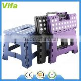 plastic folding step stool with handle