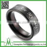 High quality factory price custom black ring fashionable ring jewelry best price tungsten carbide black ring