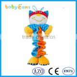 Babyfans Beautiful Animal Cartoon Shaped Music Activity Educational Soft Toys for Baby china factory wholesale