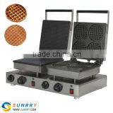 2015 commercial stainless steel egg waffle cake making machine maker (SUNRRY SY-WM58B)