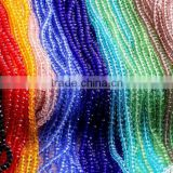 2mm to 12mm 64 Colors Stocks Wholesales Factory Price Loose Crystal Facted Roundelles Glass Beads for Jewelry Making Cheapest