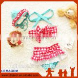 2016 fashion two pieces baby girl bathing suit for beachwear bikini girl child wholesale girl swimming suit(UKS020)