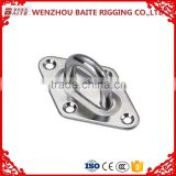 Manufacturer price rigging hardware rhombus stainless steel AISI316/304 diamond eye plate