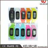 Keliwow high quality health watch, gift silicon watch with 3D pedometer calorie watch silicone bracelet