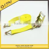 High Quality Polyester Ratchet Belt&Double J hook