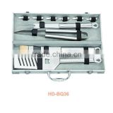 10 pcs BBQ set with aluminium case