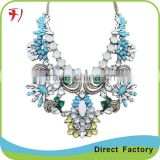 Hot sell New Arrival Top Quality big water drop crystal corral women necklace ,women accessory