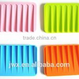 Orange silicone soap stand rectangle in bathroom