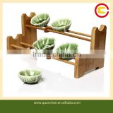 Household Bamboo Tea Cup Rack Cup Holder
