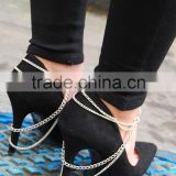 Wholesale fashion shoe jewelry chains sex Shoe jewelry anklet for heels
