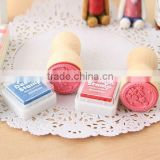 Free Shipping / New sweet lace series wood round stamp / gift stamp / 6 designs