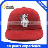 Corduroy snapback hat wholesale 3d embroidery snapback hat