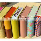decorative book shaped tin boxes/metal tin boxes/book storage box