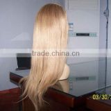 100% Indian remy human hair full lace wig highlighted color