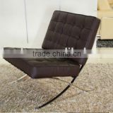 creative style salon barcelona chair with ottoman