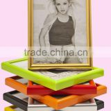 Wholesale arch surface colorful funia standing PVC plastic picture photo frame