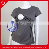 Custom short sleeve maternity clothes wear breastfeeding top nursing wholesale china                                                                                                         Supplier's Choice
