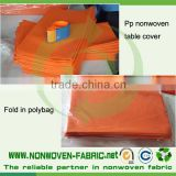 green/red/orange/blue/black nonwoven table cloth/table cover fabric on 100% PP spunbond material