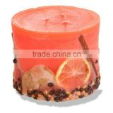 Handmade Romantic Candle Coated with Dried Fruits