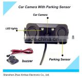 three-in-one auto reversing system camera ,1 Car carmera with 2 parking sensors,car camera