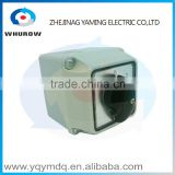 LW26-20 switch box with protective box High quality electrical momentary changeover rotary cam switch