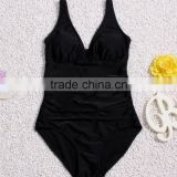Hot sexy women one piece bikinis black swimwear bathing suit with good quality