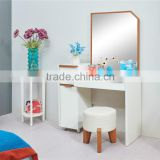 Modern high glossy white dresser with mirror in bedroom furniture set