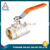 Factory Stock brass ball valve price TMOK Brand Size 1/2'' to 1'' BSP Thread Iron handles with pvc credit insurance support                                                                         Quality Choice