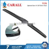 "14""-28' U-hook car cleaning wiper blade with three part ABS spoiler in advataged price"