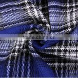 Yarn dyed grid cloth polyester fabric