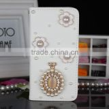 Custom 3D crystal swan Bling bling perfume bottle mobile phone case for iphone 6 and samsung galaxy grand prime and for vivo y11