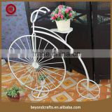 Bicycle design modern style iron flower pot stand