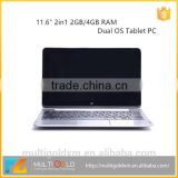 "Newest 11.6"" Capacitive touchscreen Quad Core Netbook With 2G RAM 3G Optional laptop computer"