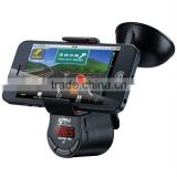 Car phone holder handsfree with FM transmitter and speaker for IPHONE IPAD