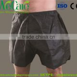 Disposable Non woven man black boxer shorts