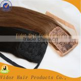 Unprocessed Queen Hair Products Cheap Brazilian Human Hair Ponytail