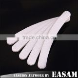 Hot design single white color nail file,cheap nail file for nail art