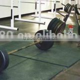 Heavy duty rubber mats for barbells or treadmills, antislipping, reducing vibration and sound