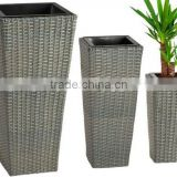 Outdoor Wicker Planters Rattan Planters Flower pot
