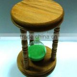 fair 30 minute glass sand timer with wooden ends