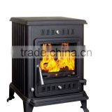 real fire wood burning stove with water jacket