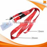 for ID Plastic Card Badge 15mm 20mm 25mm red color Lanyard
