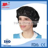 disposable surgical caps colorful High Quality Low Price Hotel Use Disposable White Shower Cap