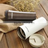 BPA free starbucks cold/hot metal travel water bottle ,mug for car stainless steel thermos
