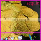 10mm 30mm flat round sequin large size with side holes PET eco friendly large sequin appliques for DIY and clothes
