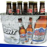 Oval beer metal bottle cooler holder with logo