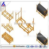 warehouse mobile multilevel heavy duty agriculture tire storage post rack basket factory manufacturor