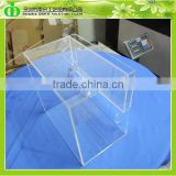 High Transparent Material Made Acrylic Charity Donation Box/Plexiglass Donation Box/Acrylic Wall Mount Donation Box